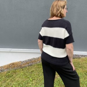 Strickanleitung, Blockstreifenpullover Lilli Woll-Inspiration